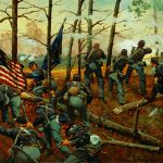 9th Illinois at Shiloh, illustration by Keith Rocco